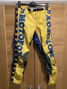 Vintage Motocross Fox Pants Yoko Motoxfox Suzuki Classic Motocross Twinshock 80s