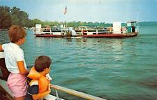 NY, New York   BEMUS POINT-STOW FERRY BOAT-Chautauqua Lake   Cars-Kids  Postcard