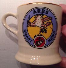 1970s ARBS SMART HAWK COFFEE MUG, A-4 SKYHAWK, U. S. MARINE CORPS, USMC, VINTAGE