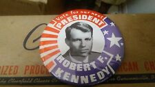 """1968  3 1/2 inch Pins ROBERT F. KENNEDY Pinback  """"Vote for our  Next President"""""""