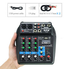 4 Channels Mixing Console USB Audio Mixer Bluetooth for karaoke Live podcast