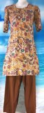 Autumn Brown Salwar Kameez 35 Bust Punjabi Indian Pant Suit 2 pc