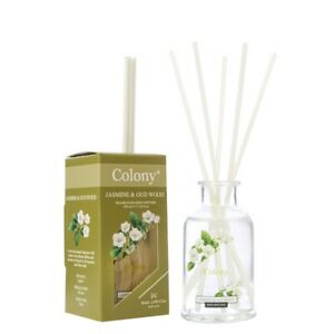 Wax Lyrical - Colony Fragranced Reed Diffuser 100ml - Jasmine and Oud Wood