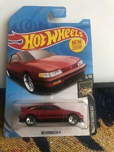 1/64 HOT WHEELS HONDA CR-X RED 3/10 49/250