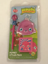 POPPET NINTENDO DS NDS DSL DSi 2DS 3DS MOSHI MONSTERS STYLUS PEN + CASE & WIPE