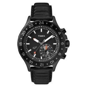 Orologio Timex IQ SmartWatch pelle nero - 43 mm TW2R39900