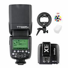 Godox TT685C TTL HSS Blitz Blitzgerät + X1T-C Trigger Für Canon + Blitzhalter