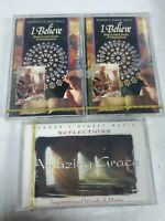 Vtg rare new sealed Readers Digest cassettes. I Believe, Inspiration 3 lot Set