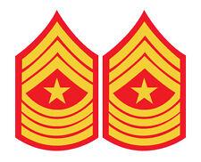 2 x Marines STRIPES SERGENTE MAGGIORE Grado Militare Rosso Cool Auto, Furgone Decalcomania Sticker