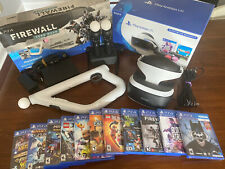Playstation VR PS4 Bundle! Headset, 11 Games, Move Controllers, Aim Controller