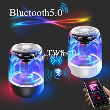 Bluetooth Speaker 6D Stereo Transparent Crystal LED Colorful Light Clear Bass