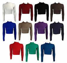 Polo Neck Cropped Women's Other Tops