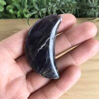 Dark Dream Amethyst Half Moon Polished Carving Crystal Collectable 24g - 5.4cm