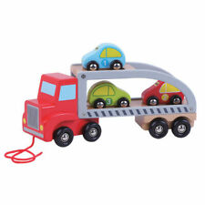Jumini Natural Wooden Car Carrier Development Toy