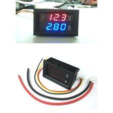 DC 4.5-30V Voltmeter Ammeter Blue Red LED Dual Digital Volt Amp Meter Gauge w/
