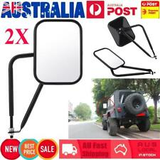 Rectangular Door-less Shake-proof Side Rear View Mirror for Jeep Wrangler TJ JK