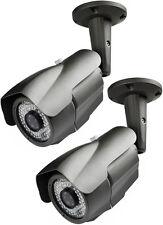 2 Sony Super HAD CCD II  960 TVL 2.8-12mm MP Lens 60 IR LED 200 Feet Range Gray