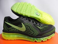 NIKE AIR MAX 2014 (GS) BLACK-VOLT-ELE GREEN SZ 6.5Y-WOMENS SZ 8 [631331-006]