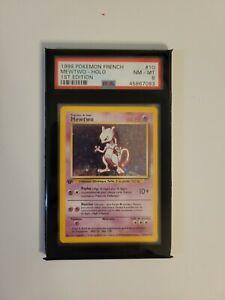 1999 French Pokemon 1st Edition Base Set Mewtwo Holo 10/102 PSA 8 NM/M