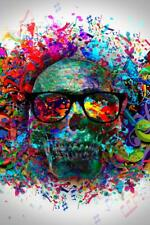Graffiti Colorful Abstract Art Skull Mural inch Poster 36x54 inch