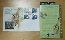 1999 Royal Selangor Pewter Stamp FDC Protected mammals Mamalia Utan Elephant