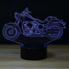 Harley Davidson Moto 3D illusion 7 Color LED Light Night Change Table Desk Lamp