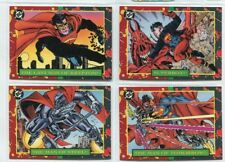 DC BLOODLINES SUPERMAN 1993 SKYBOX PROMO CARD SET OF 4 P1-2-3-4