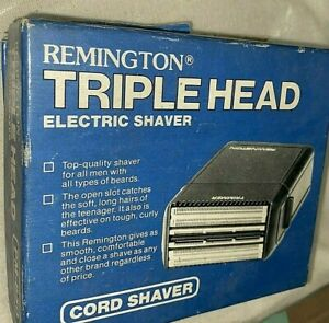Vintage Remington Triple Head Electric Shaver Corded