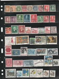 Norway used stamp assortment