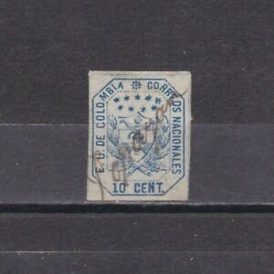 COLOMBIA 1863, Sc# 25, CV $24, Used