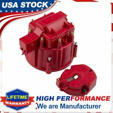 Red HEI Distributor Cap Coil And Rotor For GM SBC BBC 305 350 Olds Pontiac Chevy