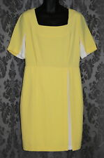 Womens size 14-16 yellow & white classic dress made by TARGET - Limited edition