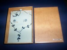 buckingham necklace and earings floral design boxed set NEW
