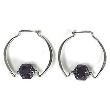 Jody Coyote Earrings JC0108 Heritage Collection HER-0113-10 hoop purple bead