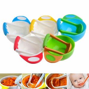 Baby Infant Manual Food Fruit Vegetable Grinder Mill Masher Blender ooll E3D3