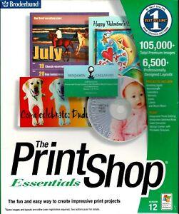 Printshop 12 Essentials Pc New Boxed XP 105,000 Images 6,500 Layouts