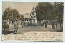 Aachen - Bahnhofsplatz mit Kriegerdenkmal - gel. 1900