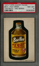 1973 Topps Wacky Packages Boo-Hoo Drink 2nd Series Tan Back PSA 8 NM-MT Card