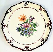 Plate Wall Painted Hand Vintage Dish Ceramic R. Wagner White Old Hanging Signed