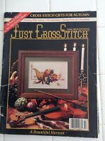JUST CROSS STITCH MAGAZINE, SEPTEMBER/OCTOBER 1989, SCHOOL DAYS AND AUTUMN