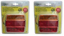 2x LED Anhänger Rückleuchten mit Kennzeichenbeleuchtung 12V 4 Funktionen 18 LED