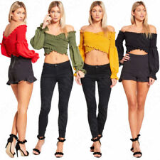 Bandeau Tops & Shirts for Women with Ruffle
