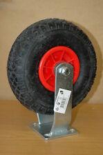 4 x 260mm pneumatic fixed caster wheels 300x4