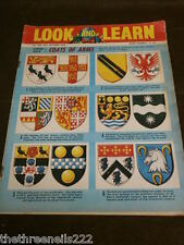 LOOK and LEARN # 198 - COATS OF ARMS - OCT 30 1965