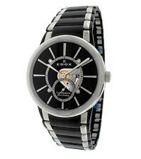 Edox Les Bemonts Swiss Made Men's Mechanical Handwinding Slim Dress Watch NEW