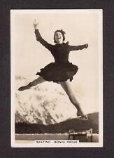 Sonja Henie Figure Skating Vintage 1935 Cigarette Card