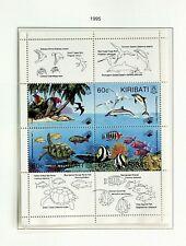 KIRIBATI 1995 PROTECTING THE ENVIRONMENT - BIRD FISH TURTLE 4v MINT SHEET