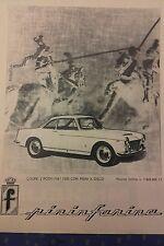 COUPÉ 2 POSTI FIAT 1500 CON FRENI A DISCO N LISTINO disegno Pininfarina 1961