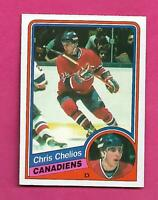 1984-85 OPC # 259 CANADIENS CHRIS CHELIOS  ROOKIE NRMT CARD (INV# D1188)