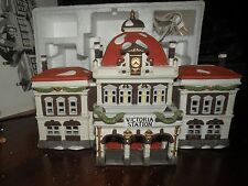 Dept 56 Victoria Station Dickens' Villiage In Box